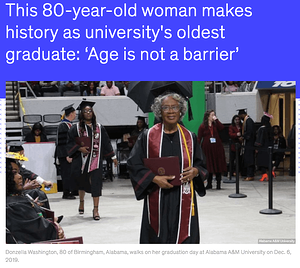 80-year-old woman_Oldest Graduate