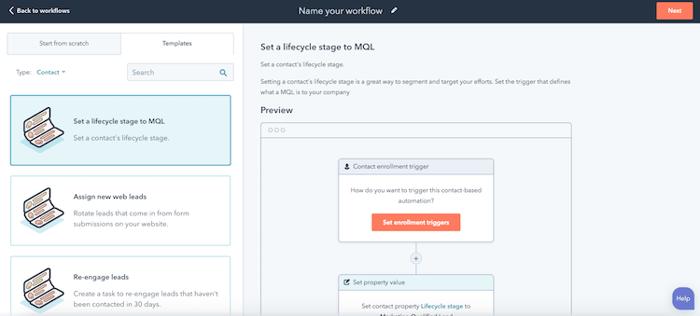 Screenshot-HubSpot Workflow