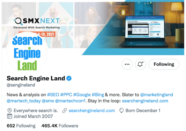 Search Enging Land Twitter