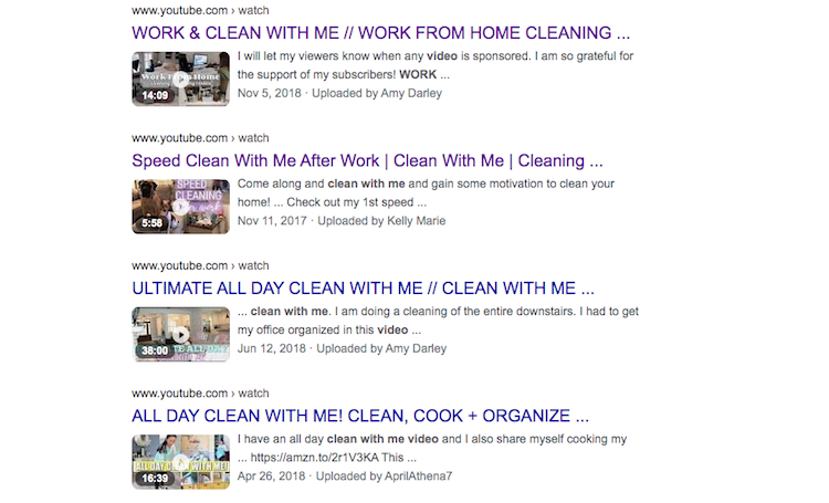 Work With MeClean With Me Videos